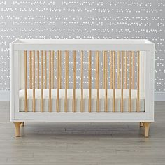 Shop Babyletto Lolly White & Natural Convertible Crib. The Lolly Crib & Toddler Rail features gently contoured corners and a crisp white finish, plus spindles and feet that show off the natural grain of New Zealand Pine Wood.