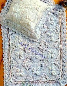 PDF Knitting Pattern for a Baby Blanket & por TheKnittingSheep
