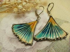 Ceramic Handmade Earrings made with Tiffany technique by NellanyArt on Etsy https://www.etsy.com/listing/239133345/ceramic-handmade-earrings-made-with