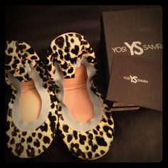Yosi Samra flats. Brand new. Samara calf hair in calypso green. Calf hair upper. Cushioned footbed. YS heel tab emblem. Includes dust bag. Brand new. Offers welcomed Yosi samra Shoes Flats & Loafers