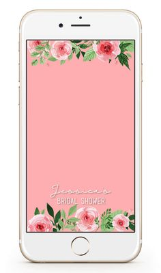 Floral Custom Snapchat Geofilter - Bridal Shower Filter - Birthday Filter - Wedding Filter - Snapchat Filter by LeahDawnCreations on Etsy