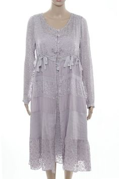 Out of Xile SPECIAL SILK COLLECTION STRIPED SILK COAT Style 60 Heather