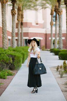 Black full Length Skirt