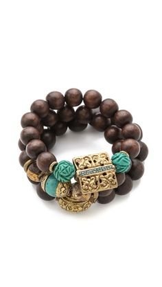 Protection Bracelet Set  wooden bohemian 175