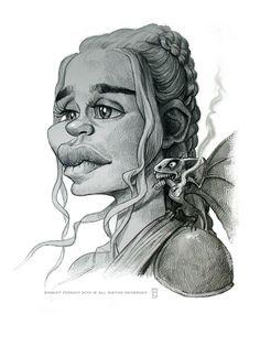 "Emilia Clarke as Daenerys Targaryen in ""Game of Thrones"" by Ernesto Priego"