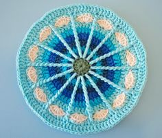 Mandala - Free pattern. This reminds me of a wagon wheel. What a tribute that would be...