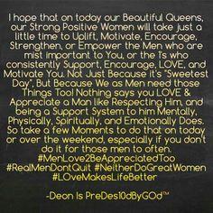 #RealMenDontQuit #WeFightForOurFuture #Learn2ComplimentAndCompleteOneAnother #OurWomenFamilyAndChildrenAreOurFuture
