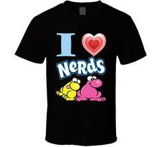 I Love Nerds Candy Fan T Shirt Nerds Candy, Funny Tshirts, Fan, My Love, How To Make, Mens Tops, T Shirt, Stuff To Buy, Fashion
