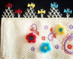 Kurdeleli iğne oyası havlu kenarı Linen Towels, Needle Lace, Diy And Crafts, Coin Purse, Lace, Tejidos, Coin Purses