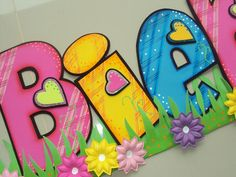 detalle d bienvenida Foam Crafts, Diy And Crafts, Crafts For Kids, Paper Crafts, Wooden Letters, Letters And Numbers, Create A Critter, Punch Art, Happy Kids