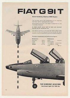 Fiat G 91 T Jet Trainer Aircraft Photo (1960)