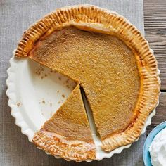 Sweetened condensed milk makes Sara's Silky Pumpkin Pie a melt-in-your-mouth favorite: http://www.bhg.com/recipes/desserts/pies/pumpkin/pumpkin-pie-recipes/?socsrc=bhgpin091114sarasilkypumpkinpie&page=3
