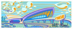 Googie Architecture, Space Age, mid century modern, Retro Modern, Exotica and Tiki Style by Nat Reed.
