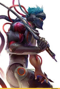 Robert Kim,Genji (Overwatch),Overwatch,Blizzard,Blizzard Entertainment,фэндомы,Overwatch art