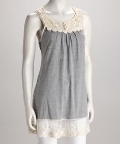 Gray Embroidered Tunic