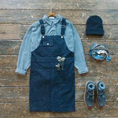 Olive clothing pinafore dress/ overalls