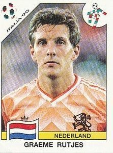 Graeme Rutjes of Hollsnd. 1990 World Cup Finals card.