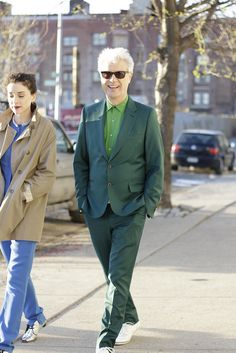 David Byrne, coolest person walking on this earth (with Annie Clark).