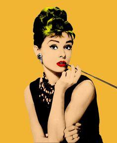 Audrey Hepburn PopArt Fine Art Print - Pop Art, Personalities posters in India - Buy art, film, design, movie, music, nature and educational paintings/wallpapers at Flipkart.com