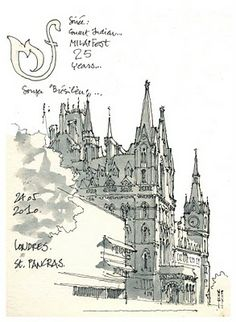 Urban Sketchers: 3 days in London. Urban Sketching, Sketches, Roses Drawing, Sketch Book, Drawings, Building Illustration, Architectural Sketch, Nature Sketch, Travel Sketches