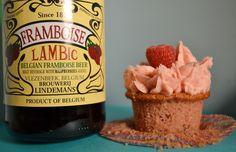 raspberry lambic beer cupcakes @Brittany Horton Horton bachman