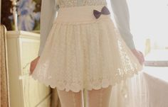 cute lace skirt with a bow!