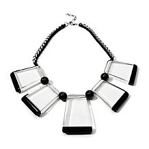 Rara Avis by Iris Apfel Clear & Black Station Necklace House of Honey|Iris Apfel
