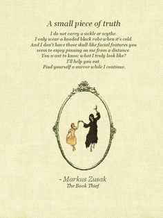 charming life pattern: The Book Thief Quote - by markus zusak