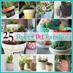 25 Flower Pot DIY's - The Cottage Market