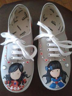 Zapatillas pintadas a mano Gorjuss