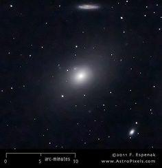 M86 |  Galaxia lenticular en la constelación de Virgo.