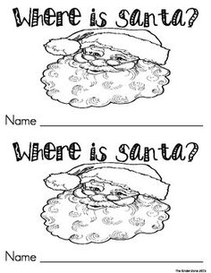 Where is Santa??  Positional Word Emergent Reader BookUse this Printable Emergent Leveled Reader with your students or children at home for your Christmas unit! This is perfect for Read to Self and Your Student Book Boxes!!! This book focuses on the sight words:         is, the, in & see This book reviews positional words, too!