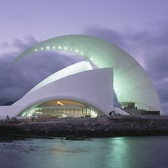 Calatrava's Tenerife opera house. Construction began in 1997 and was completed in 2003.