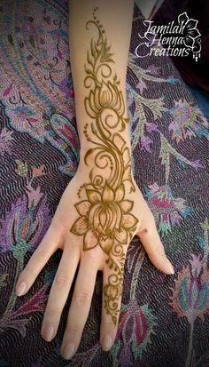 lotus full hand henna www.jamilahhennacreations.com
