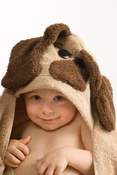 dog hooded towel :)