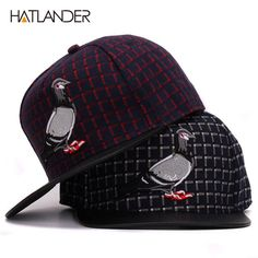 5ade43061d6 HATLANDER Brand 3D Pigeon hip hop baseball caps for men women outdoor sport  hats gorras adjustable casual flat brim snapback cap-in Baseball Caps from  Men s ...