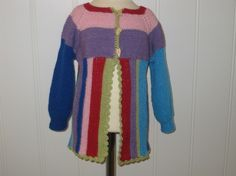 BOMULLSJAKKE STR 2-3 år Knitting, Sweaters, Handmade, Design, Fashion, Moda, Hand Made, Tricot, Fashion Styles