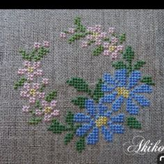 This Pin was discovered by Giu 123 Cross Stitch, Small Cross Stitch, Cross Stitch Tree, Cross Stitch Flowers, Cross Stitch Designs, Cross Stitch Patterns, Hand Embroidery Stitches, Cross Stitch Embroidery, Cross Stitch Collection