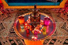 indian wedding centerpieces   Indian Wedding Decor   Stock Photo © Greg Blomberg