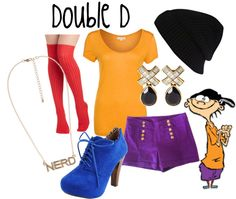 """Double D (Edd) from Ed, Edd n Eddy"" by likeghostsinthesnow ❤ liked on Polyvore"