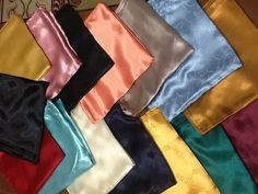 10 x Plain Different Colours Satin Square Scarve Hijab Scarf Wrap 1st Quality #Unbranded #Hijab