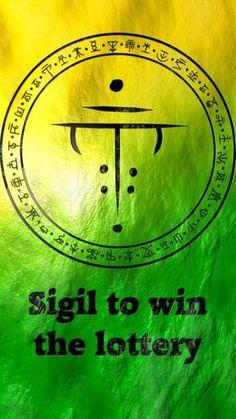 sigil for winning the lottery Luck Spells, Magick Spells, Money Spells, Witchcraft, Fairy Spells, Chinese Tattoo Designs, Magic Symbols, Druid Symbols, Winning The Lottery