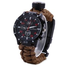BUY 6 in 1 Survival Tool Watch + Compass + Whistle + Thermometer + Fire Starter Scraper + Paracord 50% OFF + FREE SHIPPING Online  cheap watches that look expensive, cheap watches for men, men watches, watches men, watches men black, watches mens luxury, watches mens affordable, watches mens minimalist, men watches popular, men watches affordable, best men watches, best men watches 2017, best men watches 2018, best men watches style #BestMensWatches
