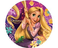 Tangled Rapunzel Edible Cupcake Toppers Decoration by A Birthday Place Bolo Rapunzel, Rapunzel Birthday Cake, Disney Princess Rapunzel, Tangled Rapunzel, Princesa Disney, Rapunzel Characters, Kawaii Disney, Edible Cupcake Toppers, Looney Tunes Cartoons