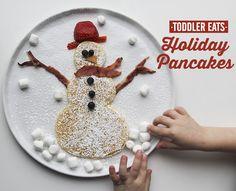 Snowman Pancaked