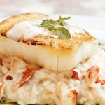 Al Biernat's: This is my favorite dish! Seabass with a Lobster Risotto.  www.LiveIntownDallas.com