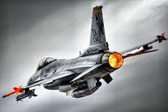 Portrait Of An F-16 Afterburner Departure by clearskyphotography.com - Kris Klop, via Flickr