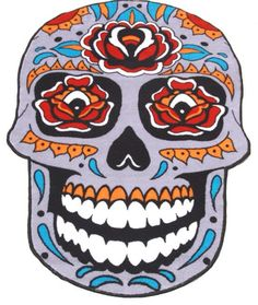 New Sugar Skull rug design. Available online now