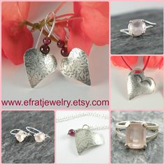 Valentine Gifts In my Etsy Shop #EfratJewelry #valentines #gift #love #romantic #heart #etsy #rosequartz