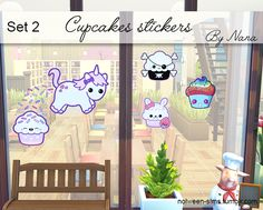 Cupcakes stickers - BY NANA •  if I use your drawing or painting is that you do not want to see this in the sims 4 please told me, i'll simply remove ! please don't be aggressive